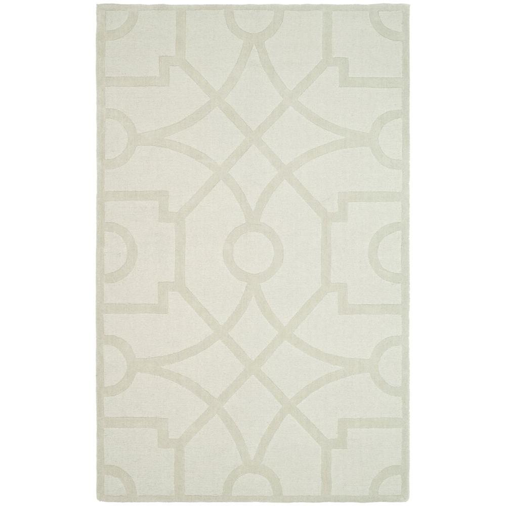 Martha Stewart Living Fretwork Buckwheat Flour 5 ft. x 8 ft. Area Rug