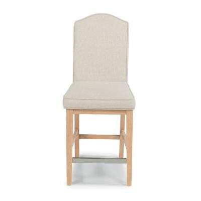 Cambridge 24 in. White Washed Natural Bar Stool