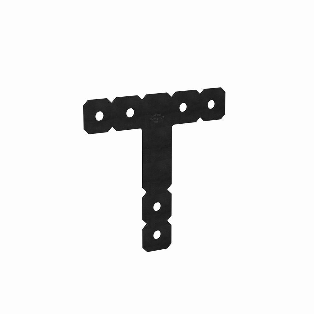 Simpson Strong-Tie OHT 12 in. x 12 in. Black Powder-Coated Ornamental Heavy T Strap