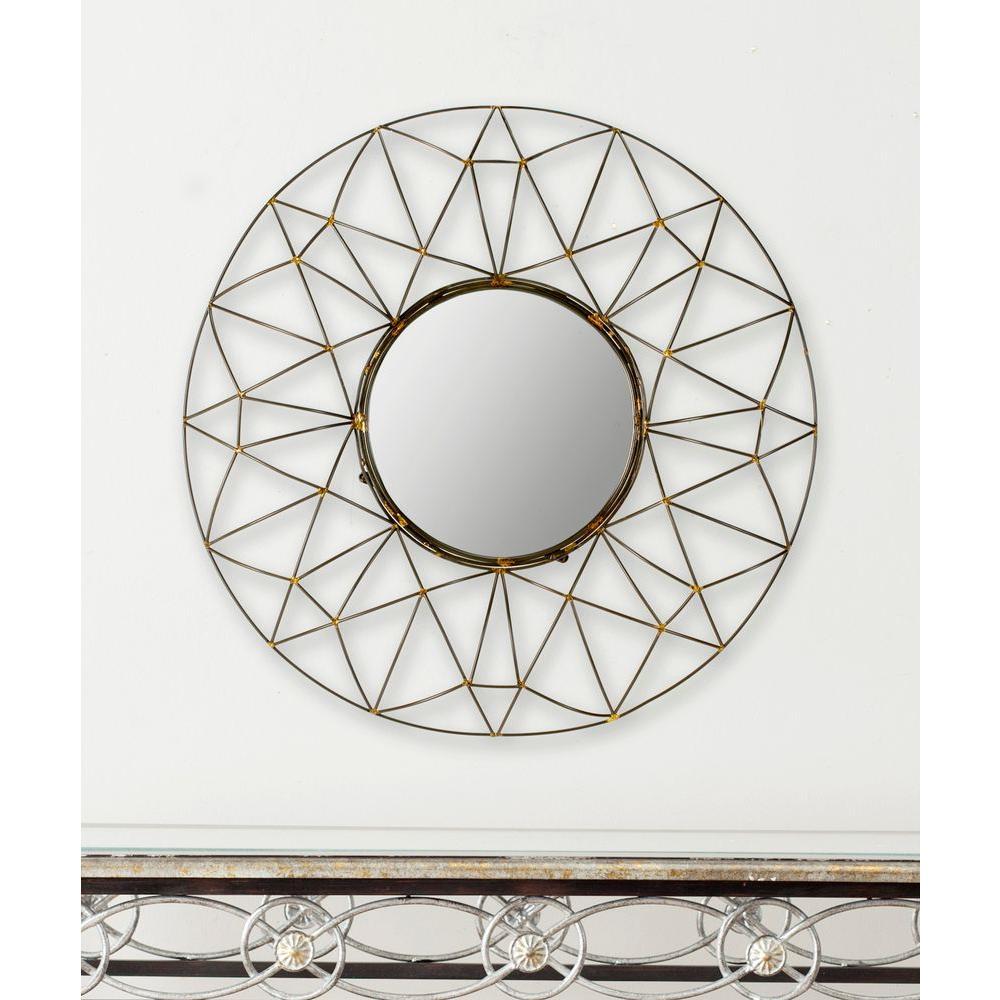 Gossamer 32 in. x 32 in. Framed Mirror