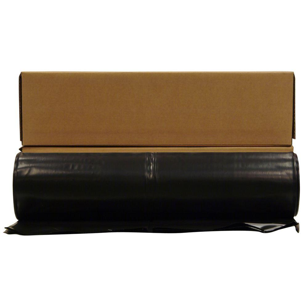 HUSKY 28 ft. x 100 ft. Black 4 mil Plastic Sheeting