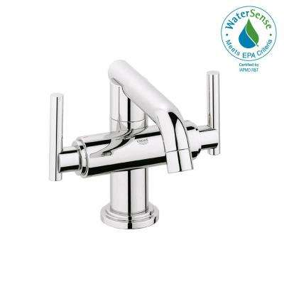 Atrio Single Hole 2-Handle Low-Arc Bathroom Faucet in StarLight Chrome Less Handles