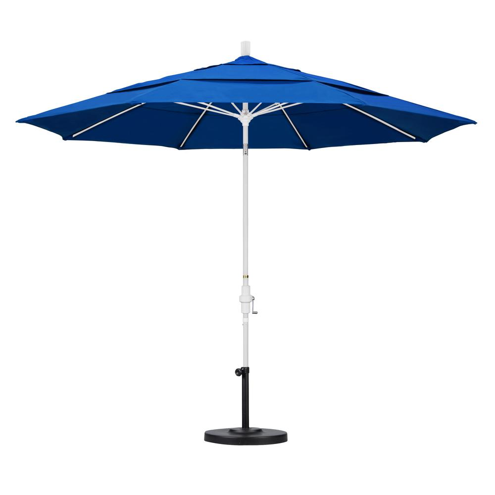 11 ft. Fiberglass Collar Tilt Double Vented Patio Umbrella in Pacific