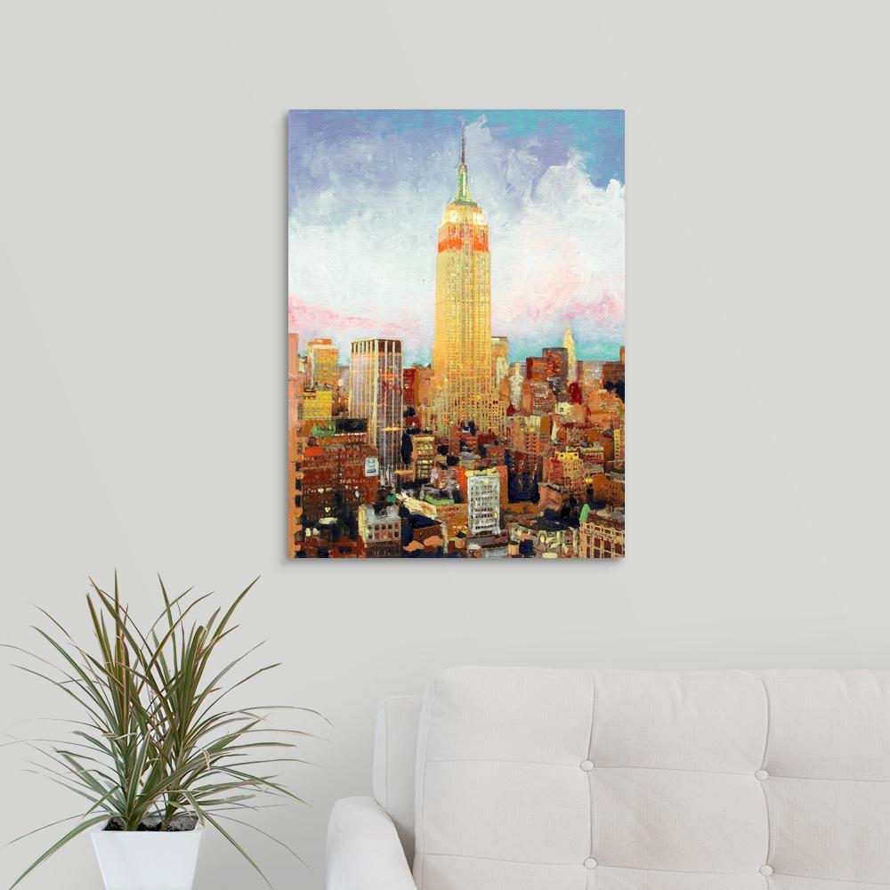 GreatBigCanvas 18 in. x 24 in. ''Manhattan Dawn New York City''