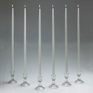 Light In The Dark 24 inch Tall White Taper Candles (Set of 12) with New Ez Safe Storage Box by Light In The Dark