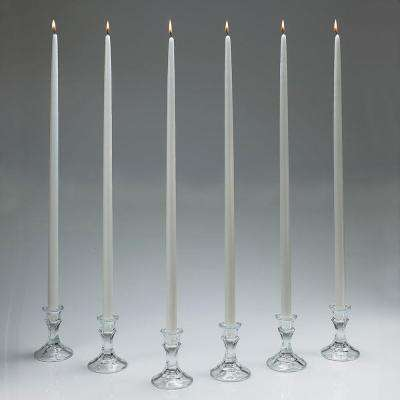 24 in. Tall White Taper Candles (Set of 12) with New Ez Safe Storage Box