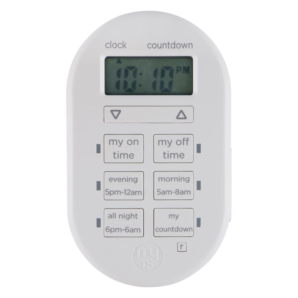 Light Timer Home Depot: MyTouchSmart Simple Set Indoor Plug-In Digital Timer-26892