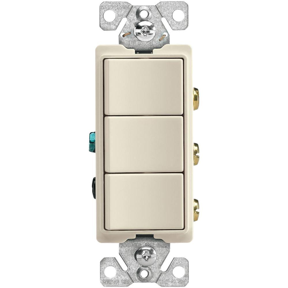 Eaton Aspire Single Pole Multi Location Master Dimmer Light Switch Cooper Wiring Quiet Toggle Lighted 15 A 120 V Ivory Amp 3 Way Volt Decorator Heavy Duty Grade