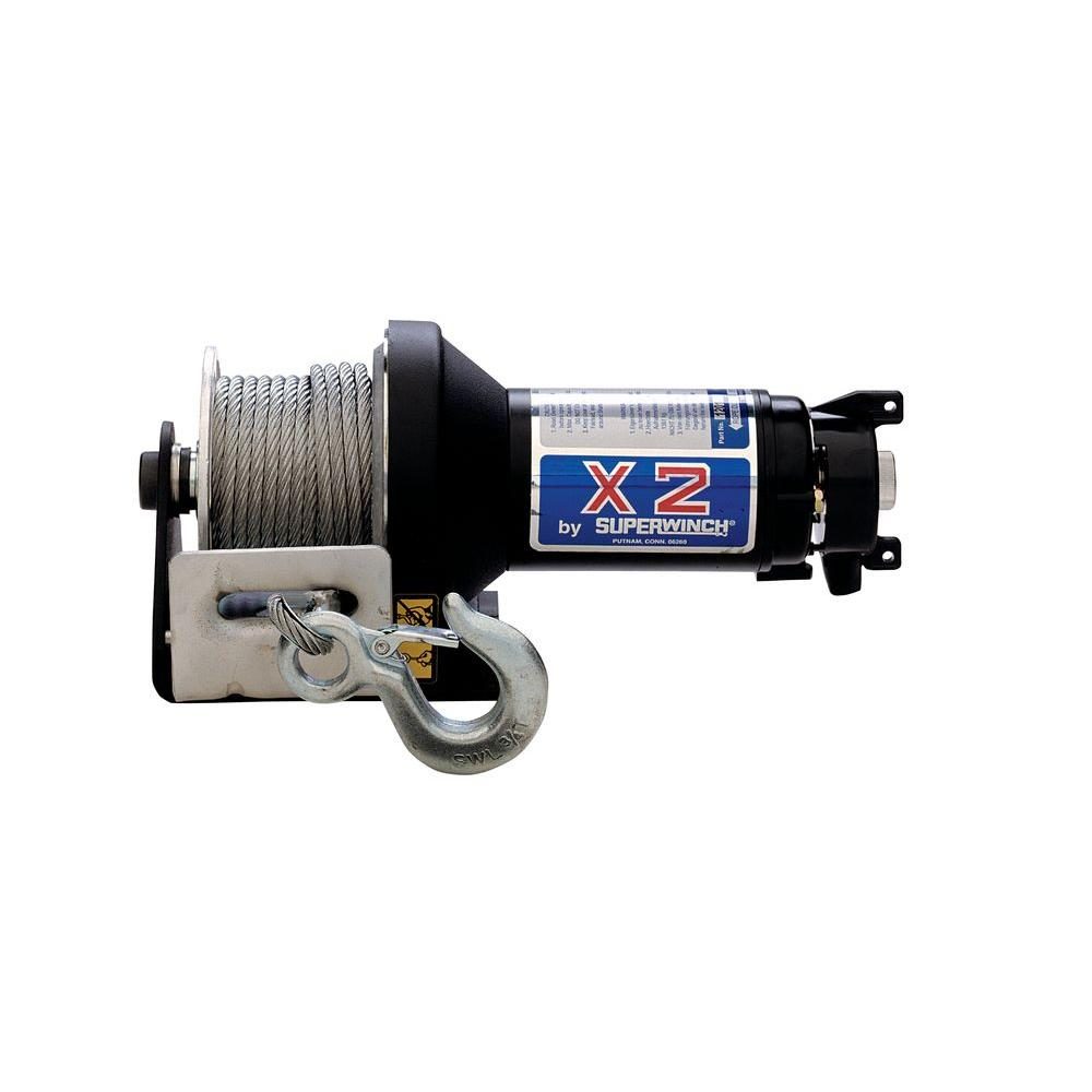 Superwinch X2 Series 12 Volt Dc Utility Winch With Hawse Fairlead Circuit Breakers And Protected Solenoid