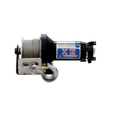X2 Series 12-Volt DC Utility Winch with Hawse Fairlead and Protected Solenoid Circuit Breaker