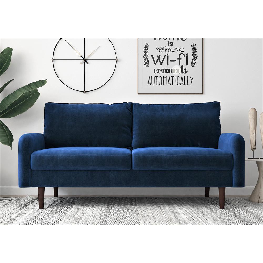 Blue Velvet 3 Seater Sofa European