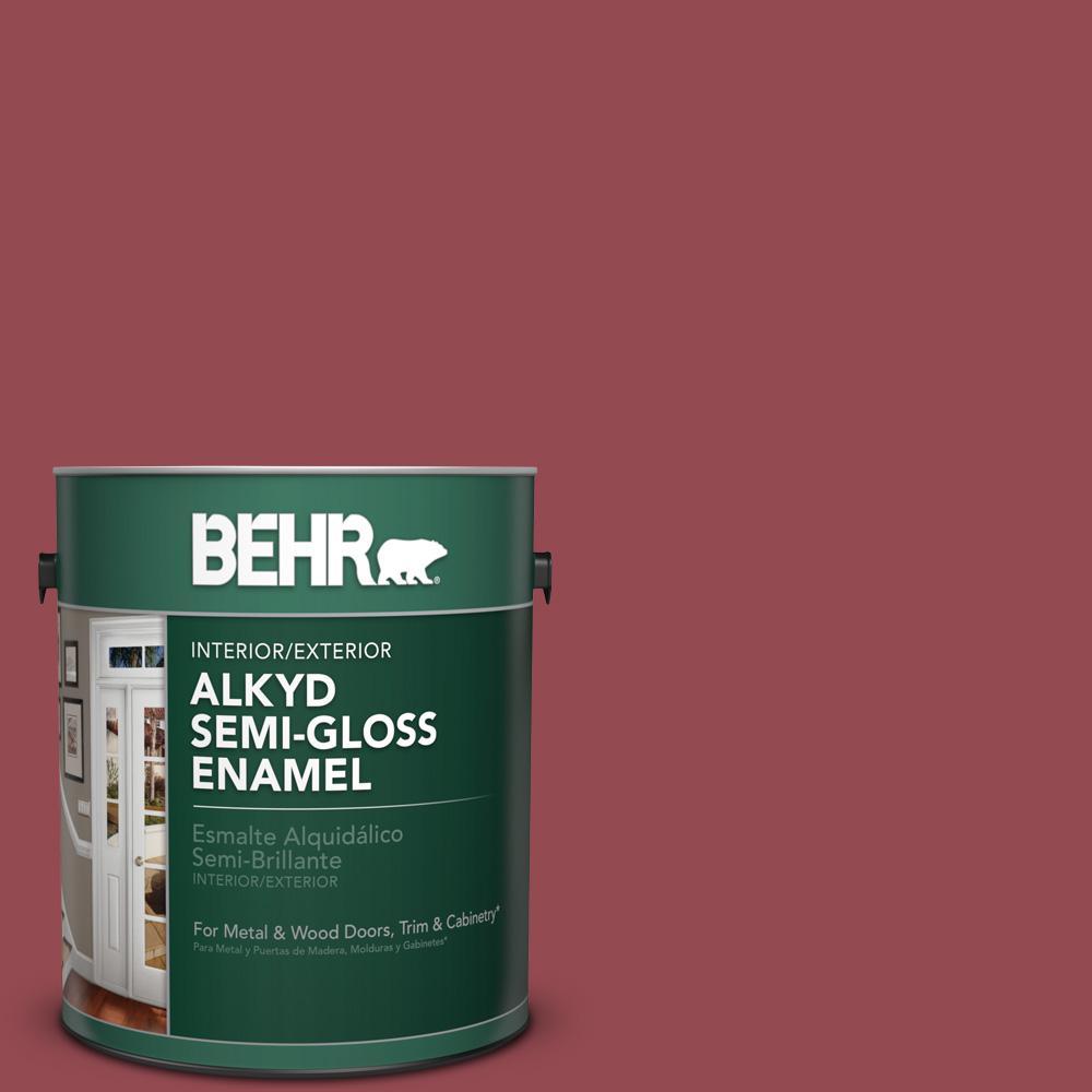 1 gal. #PPU1-11 Crantini Semi-Gloss Enamel Alkyd Interior/Exterior Paint