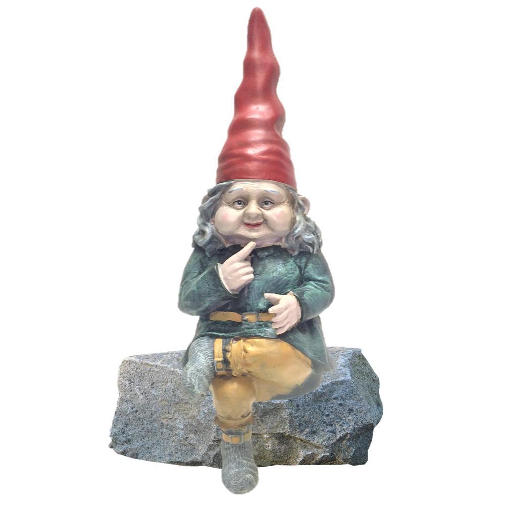 12-1/2 in. Zelda the Gnome Shelf Sitter Statue