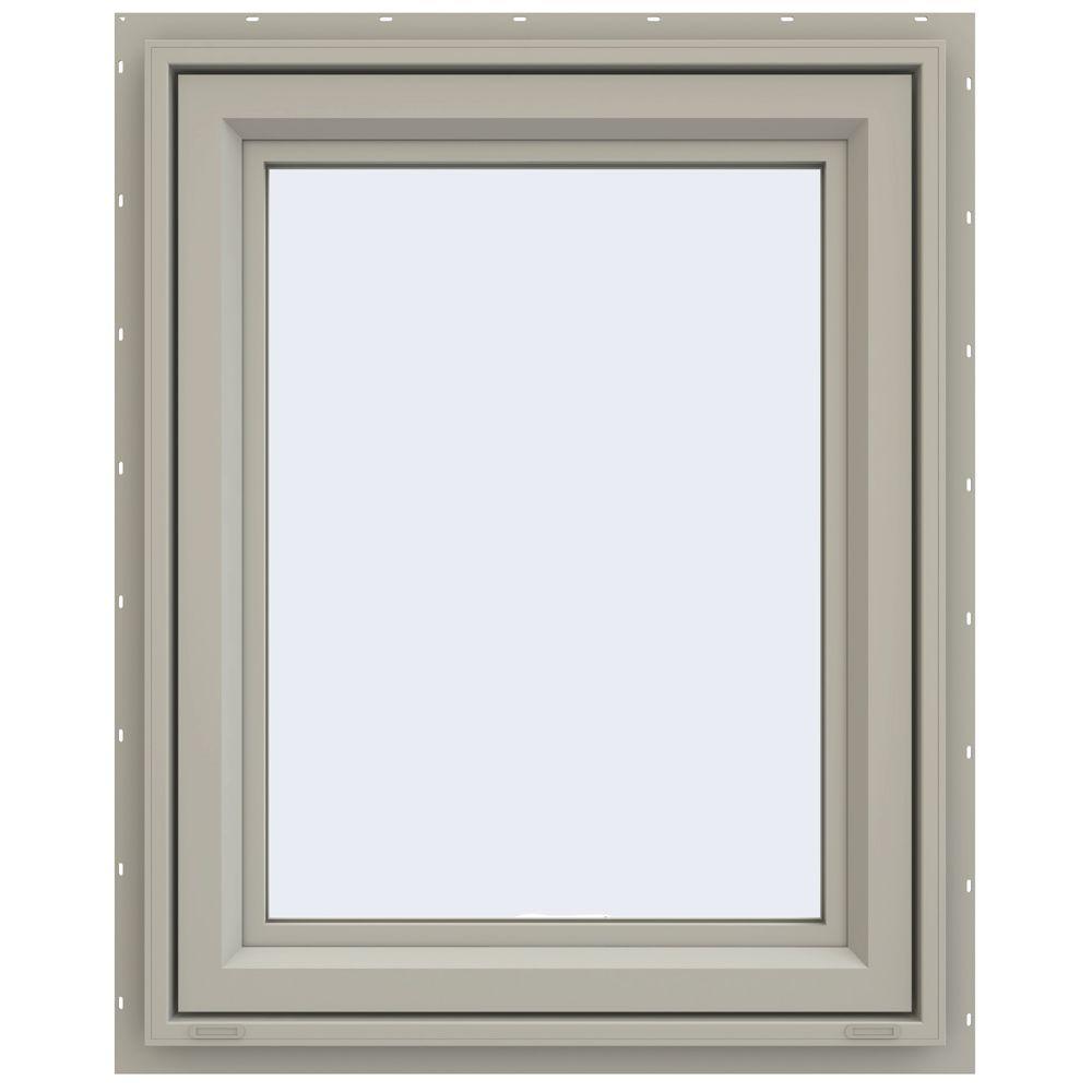 JELD-WEN 23.5 in. x 29.5 in. V-4500 Series Awning Vinyl Window - Tan