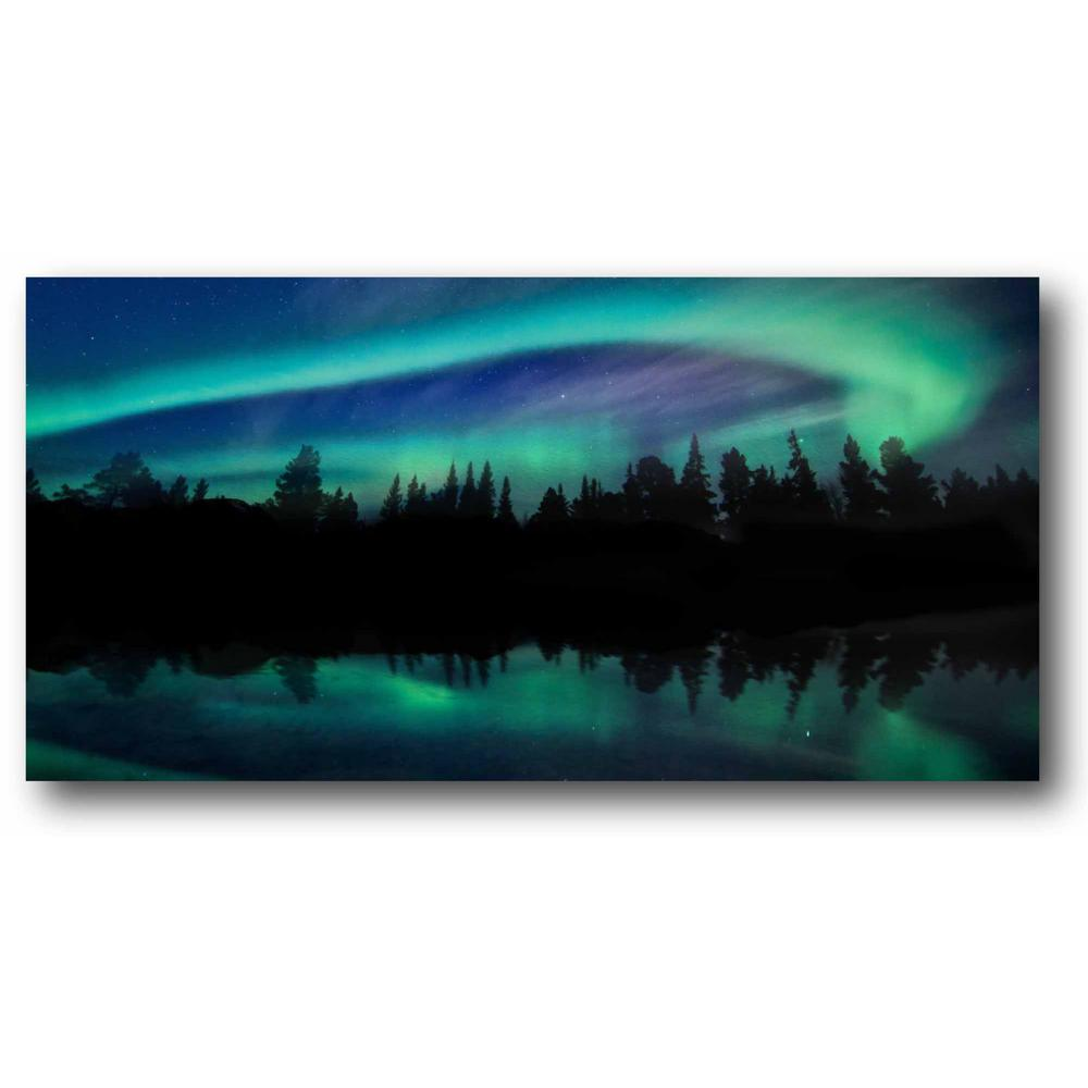 Courtside Market Chicago Skyline Gallery-Wrapped Canvas Nature Wall Art 24 in. x 12 in., Multi Color was $70.0 now $38.93 (44.0% off)