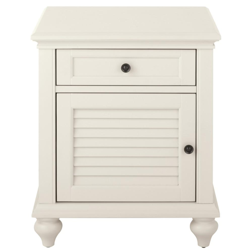 White side tables with drawers - Home Decorators Collection Hamilton Polar White Side Table