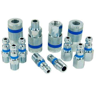 ColorMatch 1/4 in. Auto Coupler Plug Set (12-Piece)