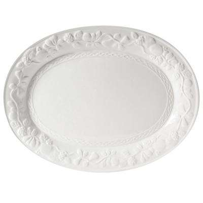 Fruitful White Stoneware Platter