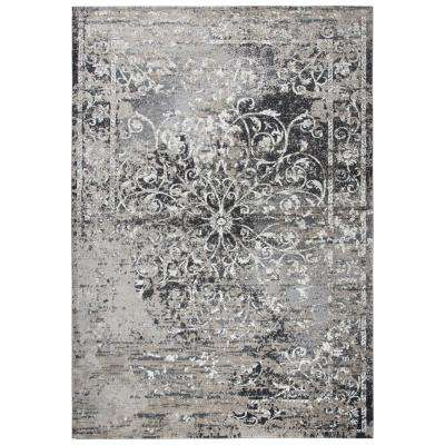 Panache Tan/Black 9 ft. 10 in. x 12 ft. 6 in. Rectangle Area Rug