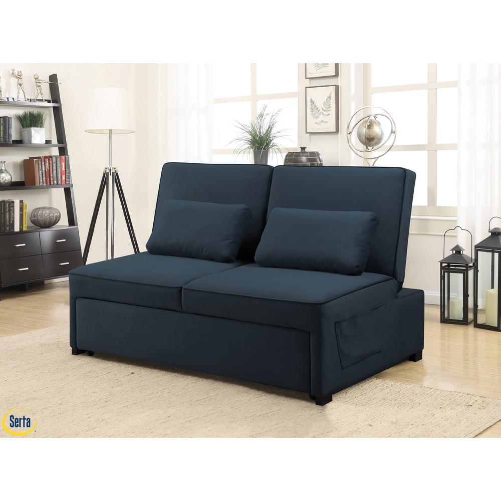 Naples Atlantic Serta Multifunctional Sofa with Microfiber Upholstery and Solid Hardwood Frame