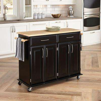 Dolly Madison Black Kitchen Cart With Storage & Other Wood - Kitchen Cart - Door - Kitchen Carts - Carts Islands ...