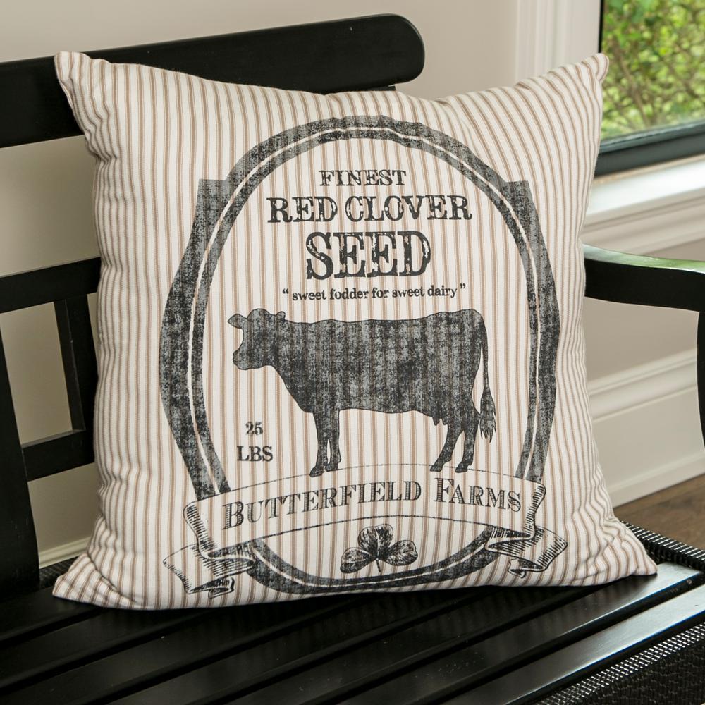 Farmhouse Tan Animal Print Polyester 22 in. x 22 in. Throw Pillow