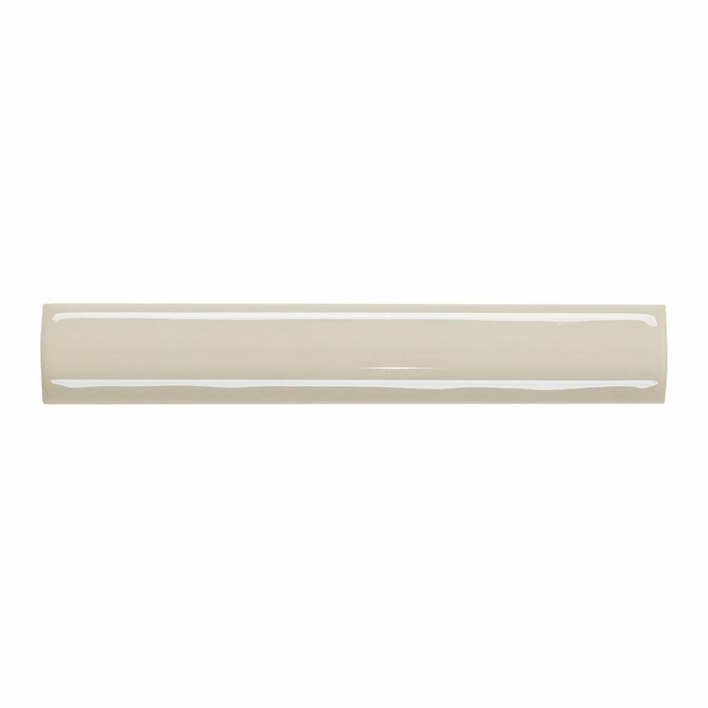 Daltile Semi Gloss Almond 3 4 In X 6 In Ceramic Quarter Round Bullnose Trim Tile 0 03125 Sq Ft Piece 0135a1061p1 The Home Depot