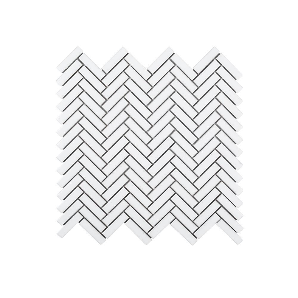 Herringbone Casacade 11 in. x 10.875 in. x 6 mm Porcelain