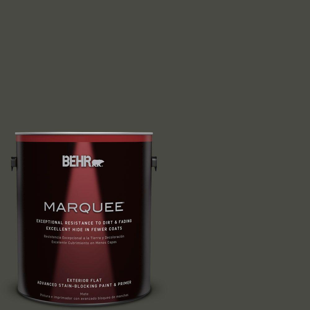 1-gal. #ECC-47-3 Twilight Forest Flat Exterior Paint