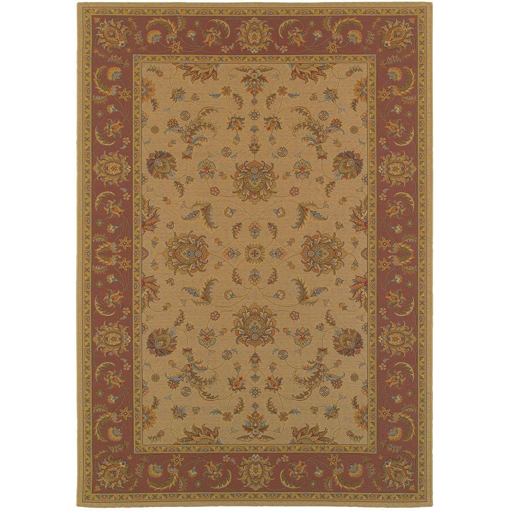 Home decorators collection versailles brown 5 ft 3 in x for Home decorators indoor outdoor rugs