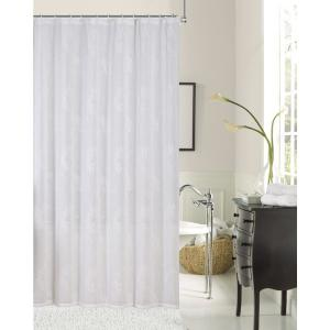 Rebecca 72 inch Ivory Embroidered Shower Curtain by