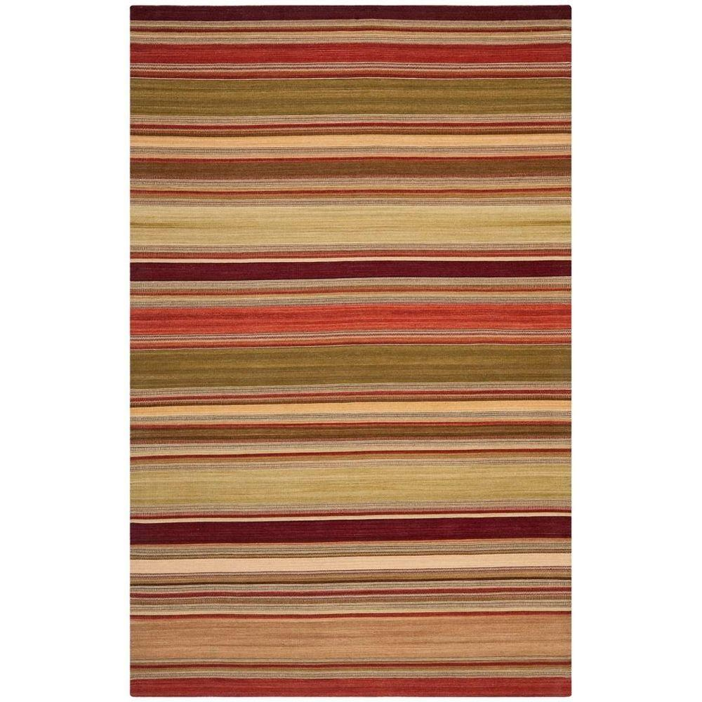 Safavieh Striped Kilim Red 2 ft. 6 in. x 4 ft. Area Rug
