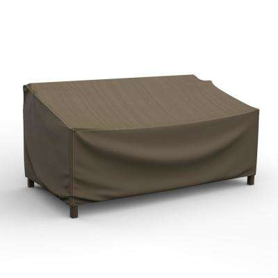 NeverWet Hillside Large Black and Tan Loveseat Cover