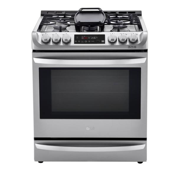 6.3 cu. ft. Slide-In Smart Dual-Fuel Electric Range with ProBake Convection Oven and Wi-Fi in Stainless Steel