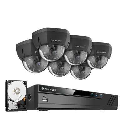 Plug & Play H.265 8-Channel 4K NVR 4MP 1440P Surveillance System with 6 Wired POE Dome Cameras and 2TB Hard Drive