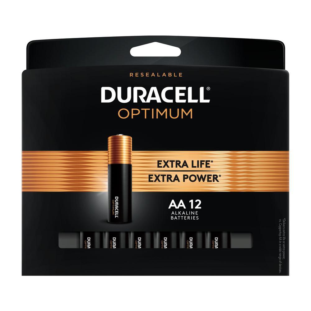 Duracell Optimum AA Alkaline Battery (12-Pack)