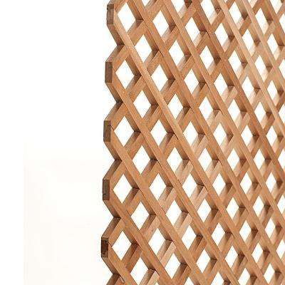 24 in. x 35-3/4 in. x 3/8 in. Unfinished Diagonal Solid North American Cherry Lattice Panel Insert