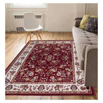 Miami Bijar Classic Traditional Oriental Red 8 ft. x 10 ft. Area Rug