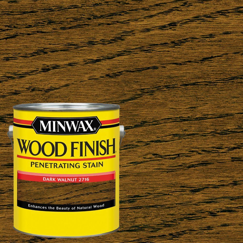 Dark Walnut Wood Stain Minwax 1 gal. Wood Fin...