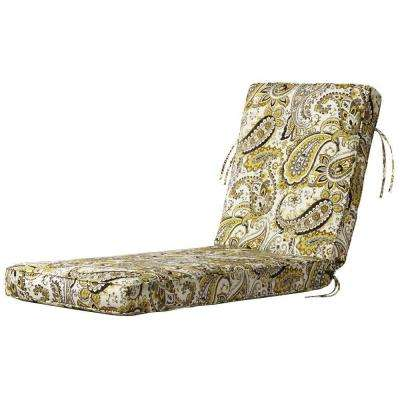 Hadia Goldmine Outdoor Chaise Lounge Cushion