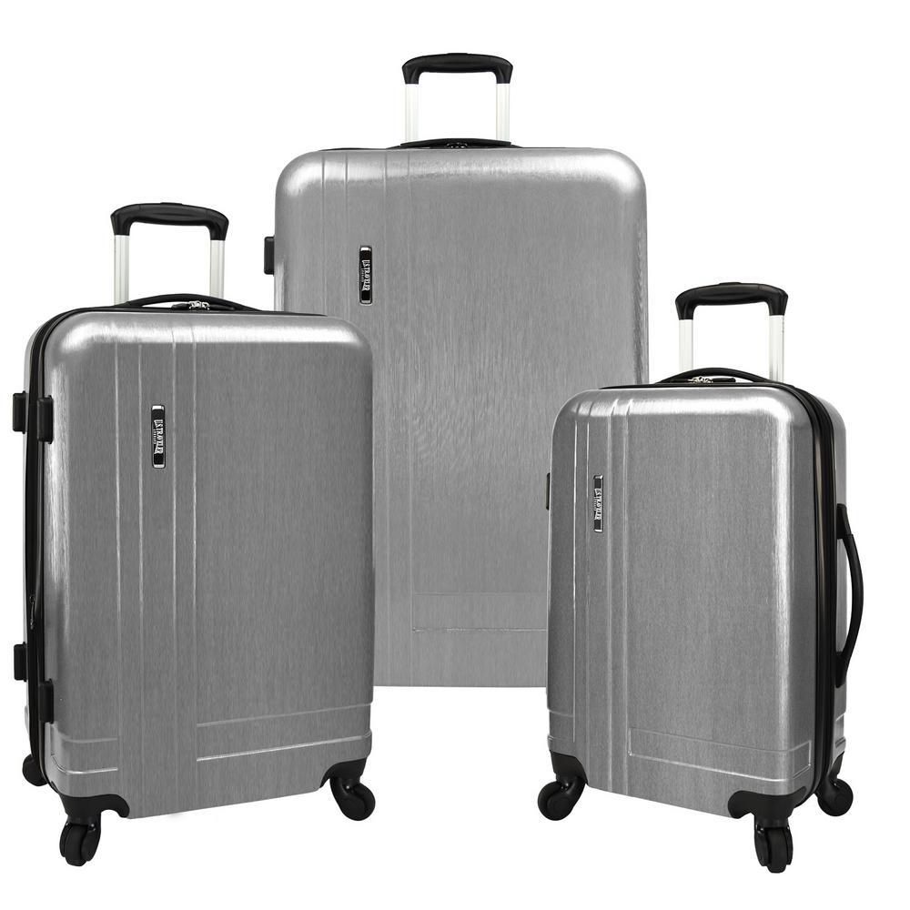 3-Piece Silver Lightweight Expandable Spinner Set