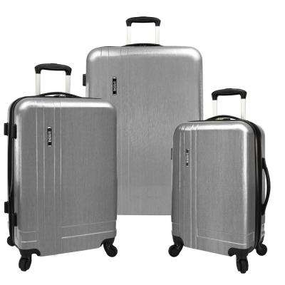 3-Piece Silver Lightweight Expandable Spinner Set