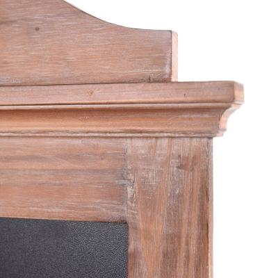 30 in. H x 22 in. W StyleWell Wood Arched Chalkboard Wall Organizer with 3 Hooks