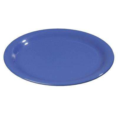 7.25 in. Diameter Melamine Narrow Rim Salad Plate in Ocean Blue (Case of 48)