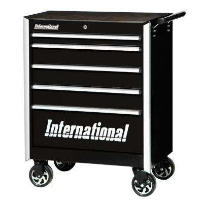 Pro Series 27 in. 5-Drawer Cabinet, Black