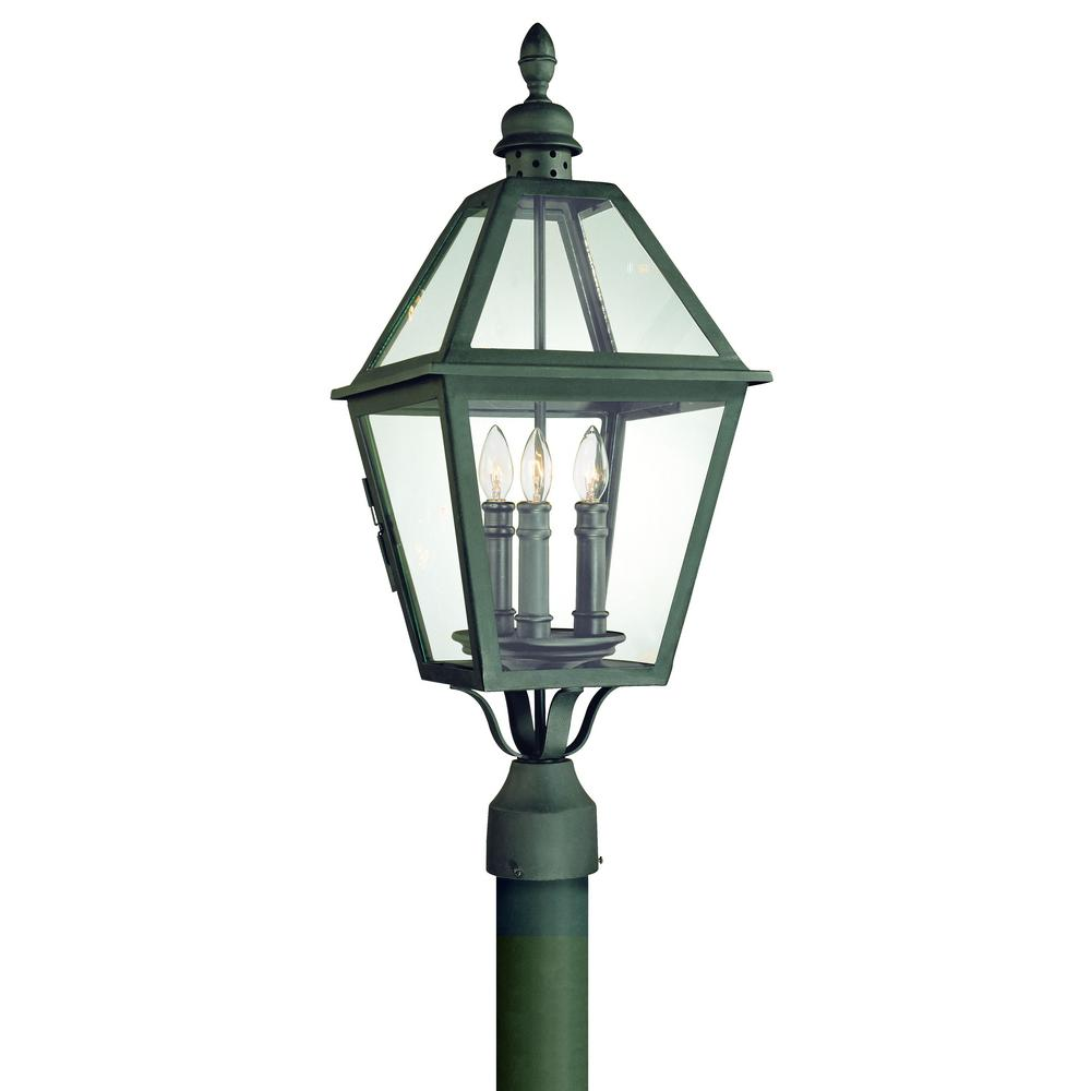 Troy Lighting Townsend 3 Light Outdoor Natural Bronze Post