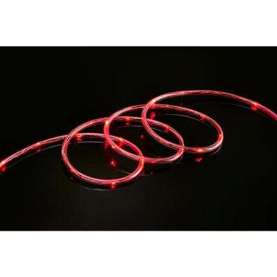 9 ft. Red All Occasion Indoor Outdoor LED 1/4 in. Mini Rope Light 360° Directional Shine Decoration