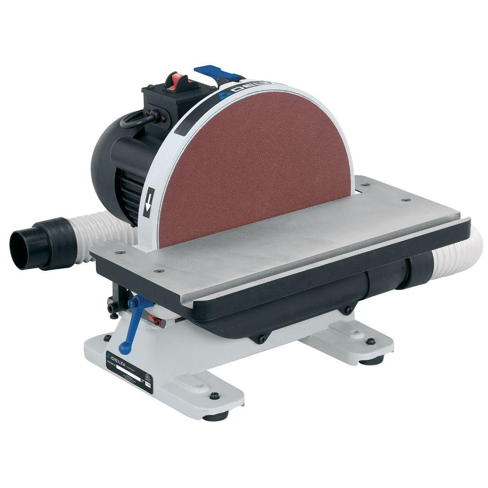 Central Machinery 12 in 1-1//4 HP Disc Sander Sand down wood and metal quickly