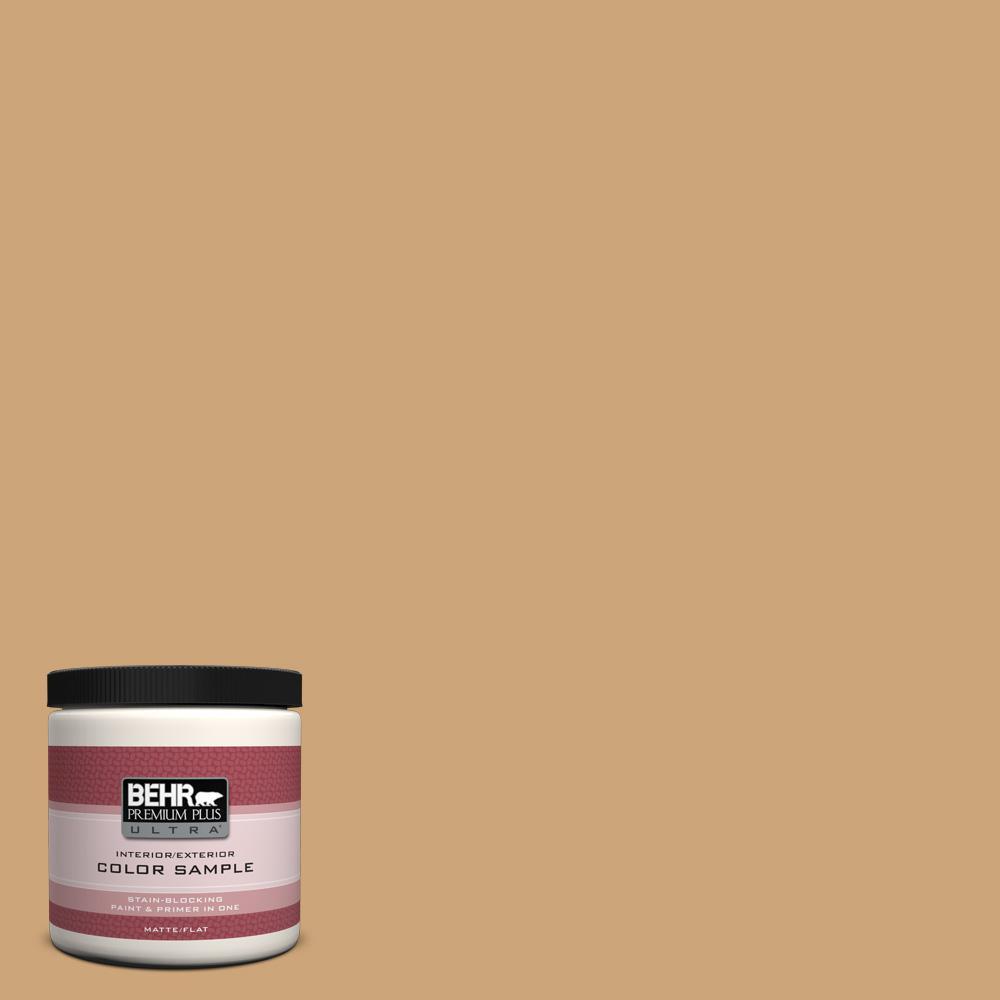BEHR Premium Plus Ultra 8 oz. Home Decorators Collection Butter Nut Interior/Exterior Paint Sample
