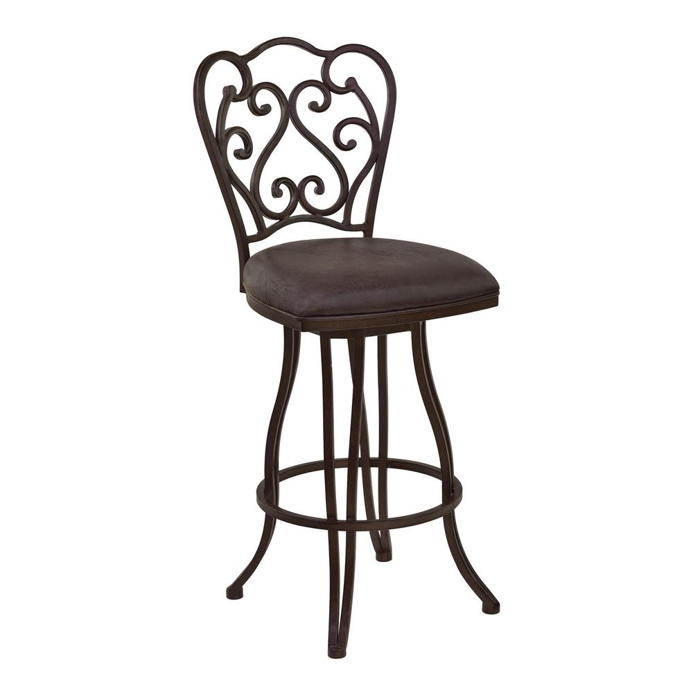 Lawrence 30 in. Brown Bar Stool